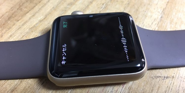 apple watchで音声入力モードにした状態