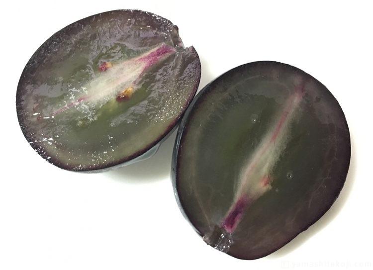 ナガノパープル果肉の断面